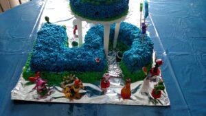 Sonic Mario Birthday Cake https://www.b4andafters.com