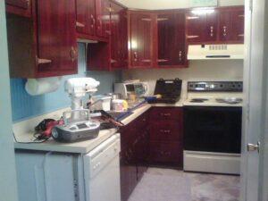 Galley kitchen after Cabinet redo