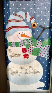large snowman wall hanging